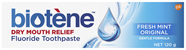 Biotene Dry Mouth Relief Fluoride Toothpaste Fresh Mint Original 120g