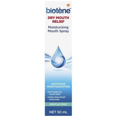 Biotene Dry Mouth Relief Moisturising Mouth Spray Gentle Mint 50mL