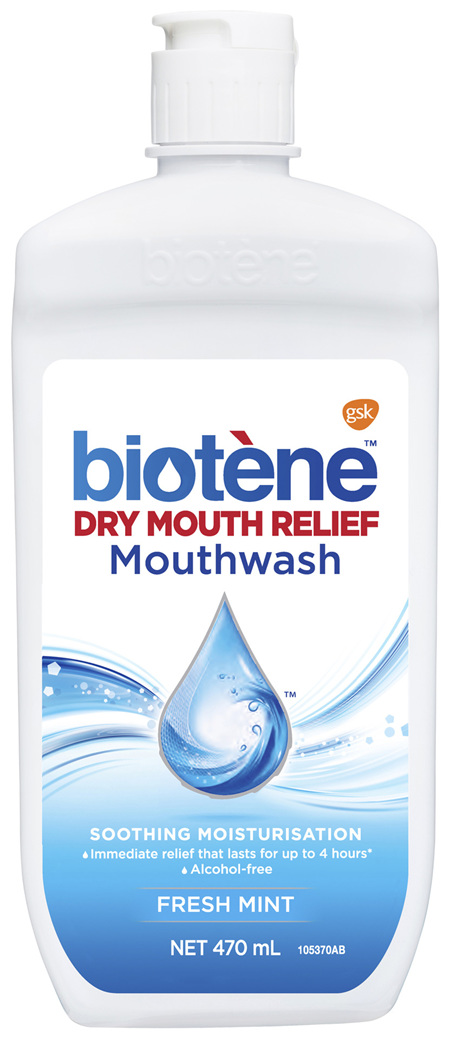 Biotene Dry Mouth Relief Mouthwash Fresh Mint 470mL