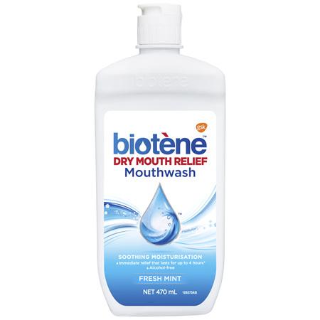 Biotene Dry Mouth Relief Mouthwash Fresh Mint 470mL