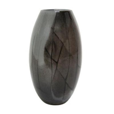 Birdie Glass Vase - Smokey Grey - Short