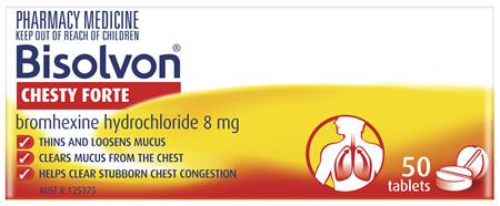 Bisolvon Chesty Forte 50 Tablets