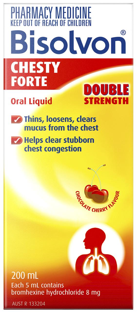 Bisolvon Chesty Forte Liquid 200mL