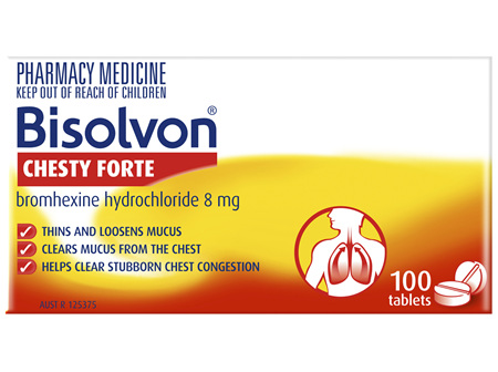 Bisolvon Chesty Forte Tablets 100 Tablets