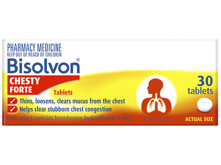 Bisolvon Chesty Forte Tablets 30 Pack