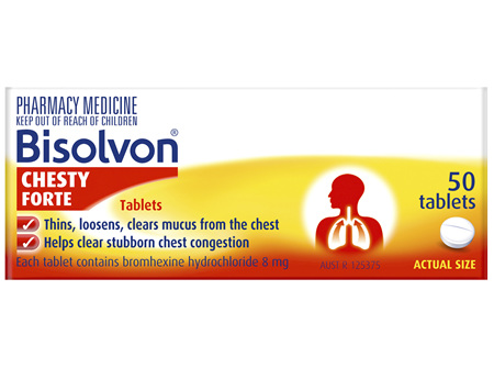 Bisolvon Chesty Forte Tablets 50 Pack