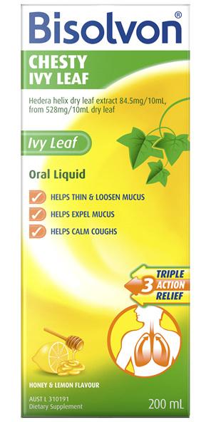 Bisolvon Chesty Ivy Leaf Liquid 200mL