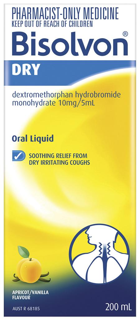 Bisolvon Dry Liquid 200mL