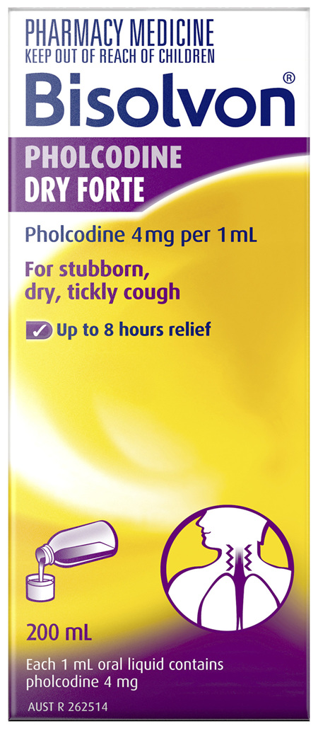 Bisolvon Pholcodine Dry Forte Liquid 200mL