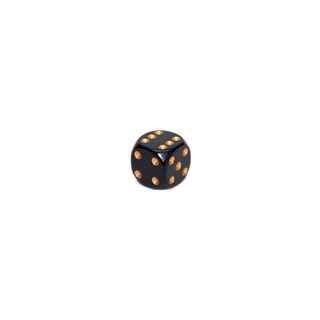 Black and Gold Six Sided Dice (12mm)