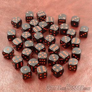 Black and Red Chessex six sided dice Games and Hobbies NZ New Zealand