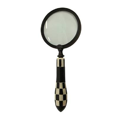 Black and White Checkered Magnifying Glass
