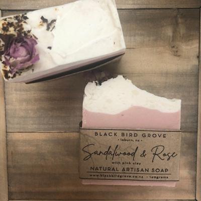 Black Bird Grove Handmade Soap - Sandalwood & Rose