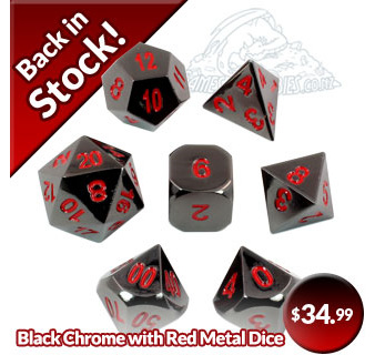 Black Chrome Dice with Red Numbers Games and Hobbies New Zealand  NZ