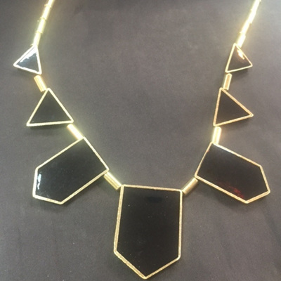 Black Geo Tribal Necklace