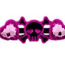 Black Industrial Barbell w Skull, Heart