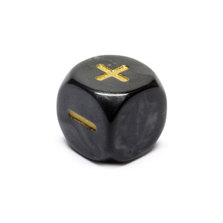 Black Fudge/Fate Six Sided Dice (16mm)