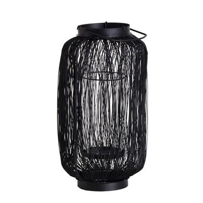 Black Wired Lantern - Tall