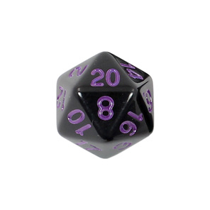 Black with Purple Standard Polyhedral Dice Games and Hobbies New Zealand NZ