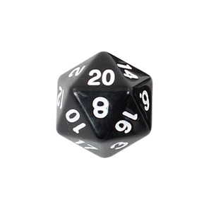 Black with White Standard Polyhedral Dice Games and Hobbies New Zealand NZ