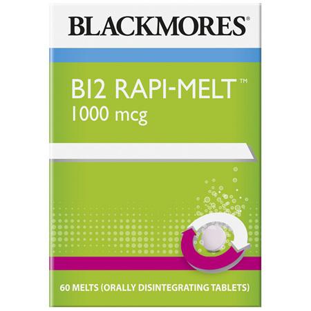 Blackmores B12 Rapi Melt 1000 mcg 60 Melts