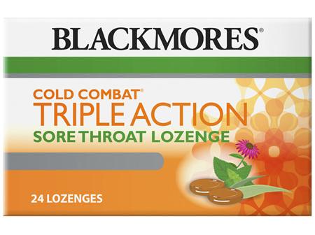 Blackmores Cold Combat Triple Action Lozenge (24)