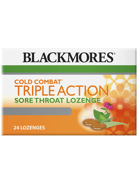Blackmores Cold Combat Triple Action Lozenge (24)
