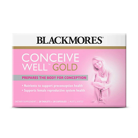 BLACKMORES Conceive Well Gold 28tab/28cap