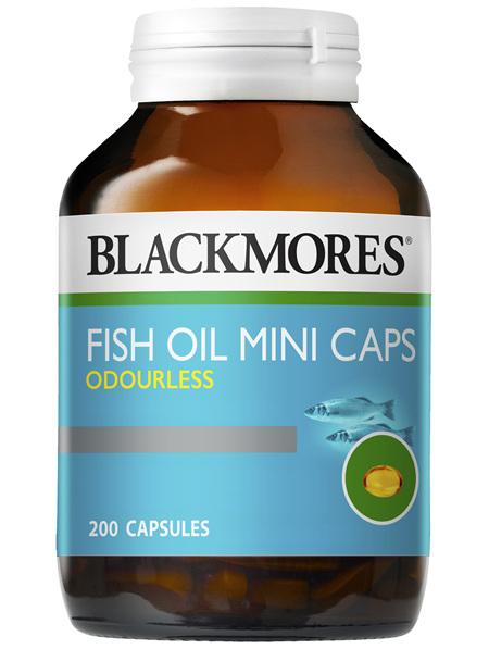 Blackmores Fish Oil Mini Caps Odourless 200 Capsules