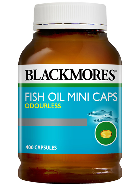 Blackmores Fish Oil Mini Caps Odourless 400 Capsules