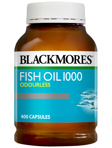 Blackmores Fish Oil Odourless 1000 400 Capsules