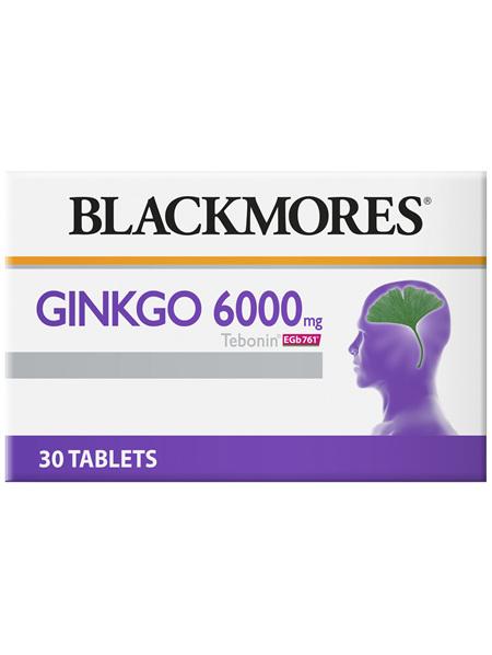 Blackmores Ginkgo 6000mg Tebonin (30)