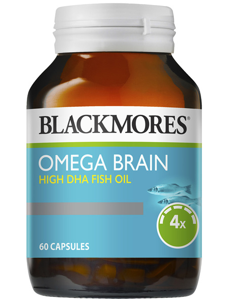 Blackmores Omega Brain High DHA Fish Oil 60 Capsules