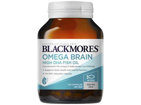 Blackmores Omega Brain High DHA Fish Oil 60 Capsules