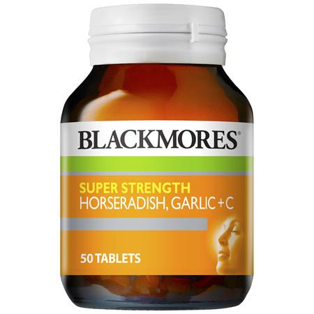 Blackmores Super Strength Horseradish Garlic + C (50)