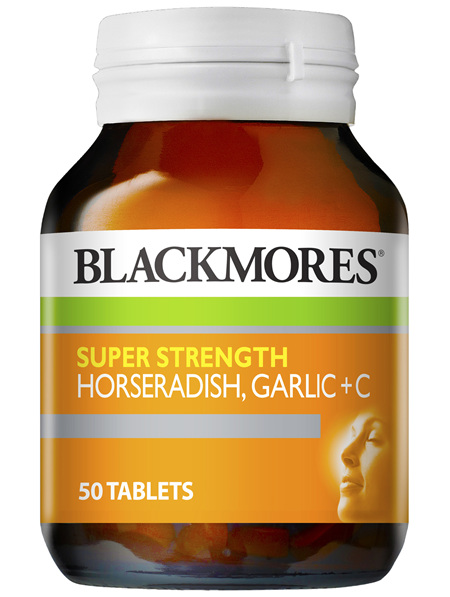 Blackmores Super Strength Horseradish Garlic + C (50)