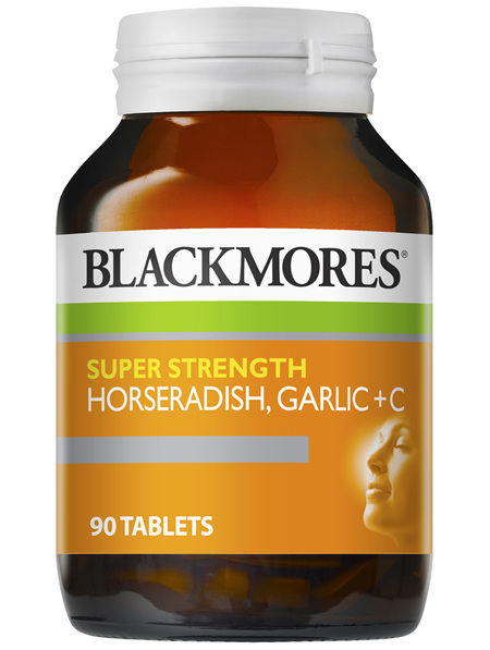 Blackmores Super Strength Horseradish Garlic + C (90)
