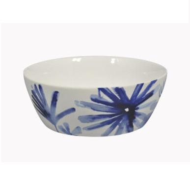 Blue Flower Serving Bowl White 24.5cm