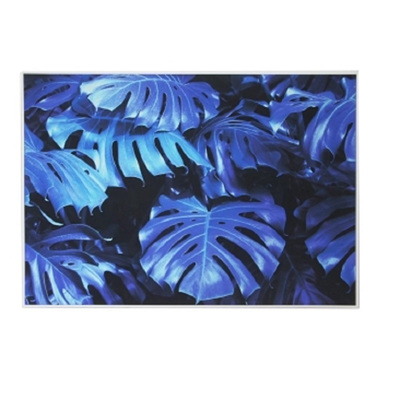 Blue Monsteria Classic Canvas W White Frame 100x140cm
