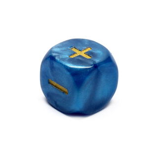 Blue Fudge/Fate Six Sided Dice (16mm)