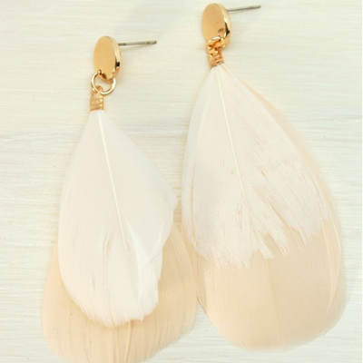 Blush Feather Earrings