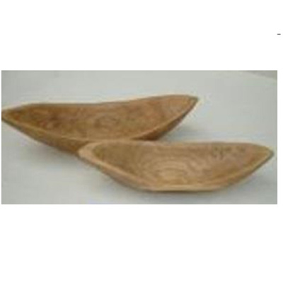 Boat Carved Wood Bowl - Natural/Small