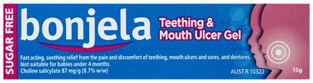 Bonjela Fast Acting Teething Gel 87mg/g Choline Salicylate 15g