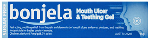 Bonjela Mouth Ulcer and Teething Gel 87mg/g Choline Salicylate 15g