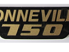 83-7317 Bonneville 750 Badge 79on Gold/Black
