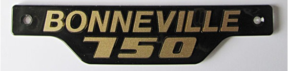 Bonneville 750 Side Cover Bage 1979 on Gold on Black 83-7317 Triumph