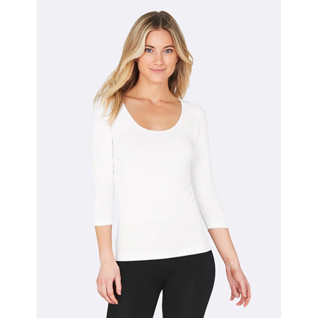 Boody 3/4 Sleeve Top White - Small