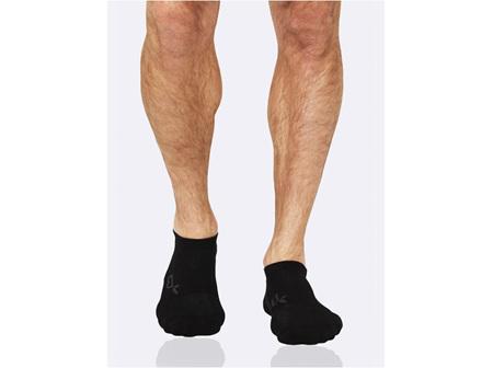 Boody Active Men's Rib/Mesh Sport Socks Black 11-14