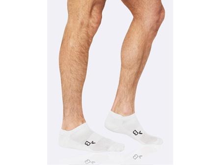 Boody Active Men's Rib/Mesh Sport Socks White 11-14