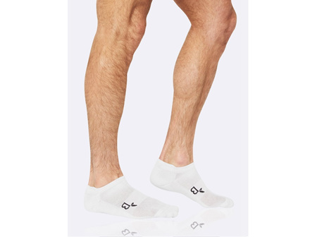 Boody Active Men's Rib/Mesh Sport Socks White 6-11